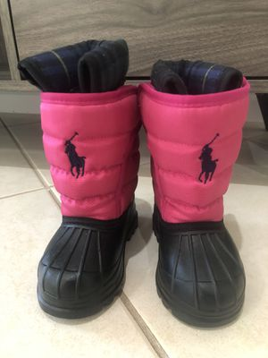Polo snow boots for toddlers size 4 for Sale in Weston, FL