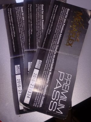 3 Megaplex Premium Passes for Sale in Salt Lake City, UT
