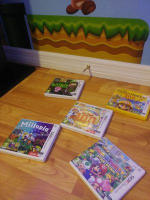 5 nintendo 3ds games from Italy. Region locked. for Sale in Apopka, FL