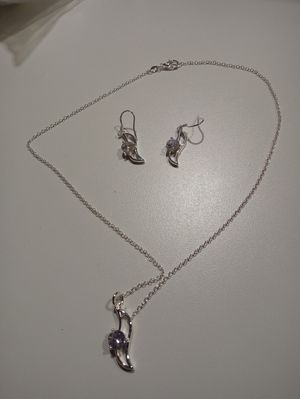 925 sterling silver necklace and earrings for Sale in New Haven, CT