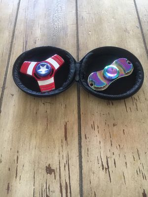 Captain America and Rainbow Chrome Fidget Spinners With Case for Sale in Chandler, AZ