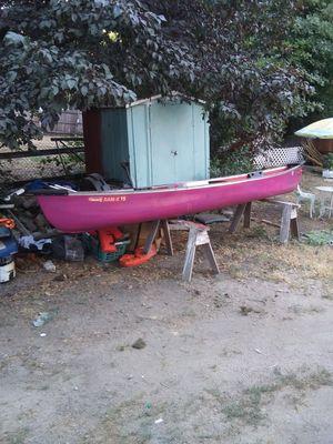 15ft Coleman canoe $350 w/accessories for Sale in Crestline, CA