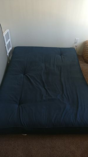"6"" navy tufted futon full size mattress for Sale in San Diego, CA"