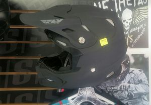 Dirt Bike Helmet Fly Racing matte black xl new DOT ECE lightweight cover bag for Sale in San Diego, CA