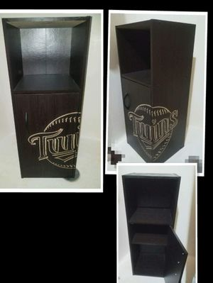 Engraved wooden storage shelving for Sale in Circle Pines, MN