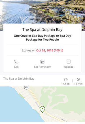 Couple Spa Package at The Dolphin Bay Resort for Sale in Nipomo, CA