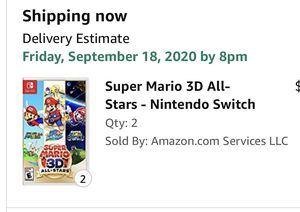 Súper Mario 3D All-Stars switch (physical copy) brand new never opened for Sale in North Arlington, NJ