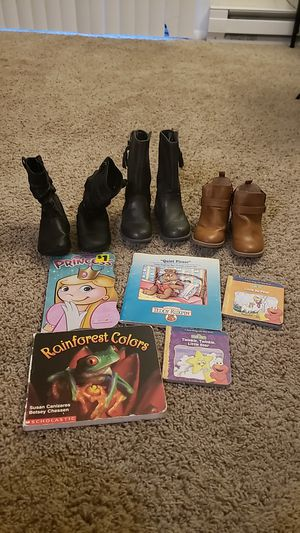 Toddlers Shoes and Books for Sale in Fayetteville, NC