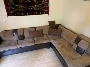7 seat leather/suede sofa Hayward for Sale in Hayward, CA
