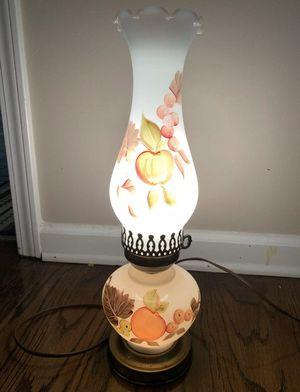 Vintage fruit patterned hurricane lamp for Sale in Cleveland, SC