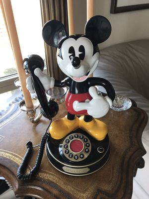 Mickey Mouse Animated Telemania Disney Talking Telephone 1997 for Sale in Austin, TX