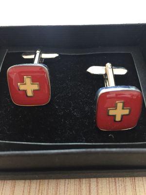 Swiss flag cufflinks for Sale in Miami, FL