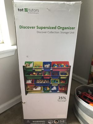 Tot Tutors Kids Toy Storage Organizer with 16 plastic Bins for Sale in Philadelphia, PA