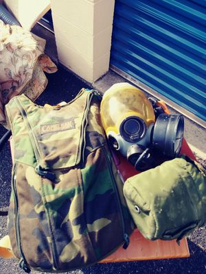US Army gas mask water camel bag and canteen for Sale in Newport News, VA