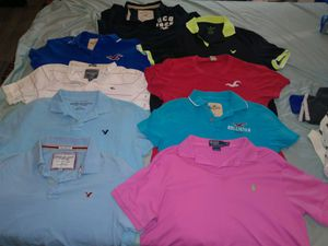 Designer clothes: polo Ralph Lauren, Abercrombie and Fitch, Hollister, an American Eagle. Hoodies, polos, button up's, and baby blue dress pants. for Sale in Jonesboro, AR