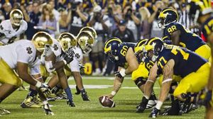 In search of Michigan Notre Dame home opener football game tickets for Sale in Battle Creek, MI
