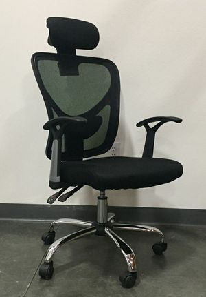 New Ergonomic Adjustable Mesh High Back Office Chair with Headrest Computer Chair for Sale in Whittier, CA