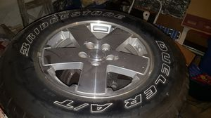 Jeep jk rims ,wheels, 2dr Sahara steps , windshield light brackets, factory hood latches for Sale in Fall River, MA