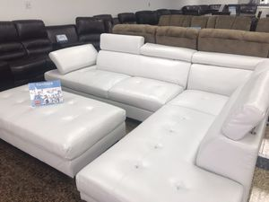 COMFY NEW IBIZA SECTIONAL AND OTTOMAN SET IN WHITE AND BLACK. FALL SALE EVENT BLOWOUT!!! SAME DAY DELIVERY! NO CREDIT CHECK FINANCING WITH ONLY $40 D for Sale in St. Petersburg, FL