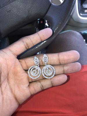Diamond earrings (real) for Sale in Gardena, CA