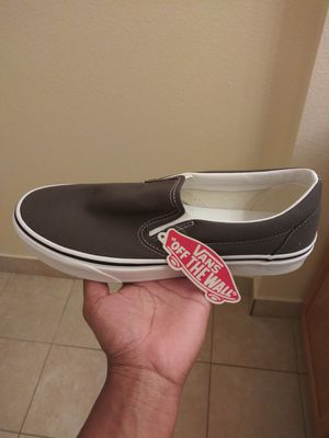 Vans shoes for men size 10, beautiful charcoal grey color that can be worn almost anywhere with the right attire. for Sale in Palm Bay, FL