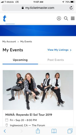3 tickets to see Mana in concert for Sale in Mira Loma, CA