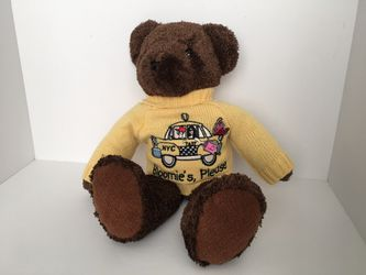 "RARE Bestever ""Bloomie's Please"" Bloomingdales NYC Taxi Brown Teddy Bear for Sale in District Heights, MD"