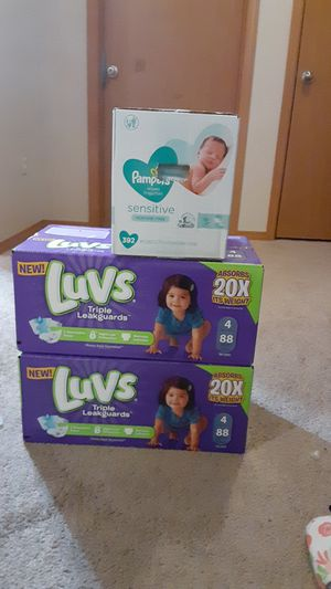 Luvs diapers and pampers wipes for Sale in Beaverton, OR