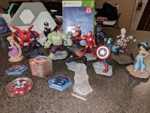 Xbox 360 Disney Infinity with 13 characters and add on chips for Sale in Goodyear, AZ