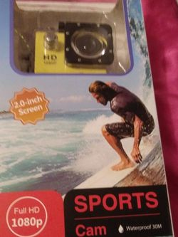 Cheap New Sports Camera Waterproof (Yellow) for Sale in Ocean Shores,  WA