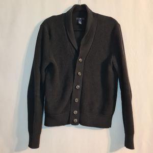 GAP Men's Shawl Collar 100% Cotton Sweater, Size S, Button Down Black Cardigan for Sale in St. Petersburg, FL