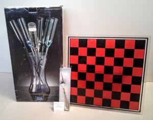 Glass Checkers Game Board & Nic Nacs for Sale in Orange, CA