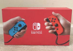 Nintendo Switch 32GB Console with Neon Blue & Red Joy-Con IN HAND for Sale in Marietta, GA
