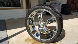4 new boss motorsports 329 style 5lug rims with, 265/35r22 size tires for Sale in Exeter, CA