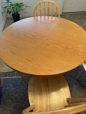 Dining room table wooden 4 chairs for Sale in Eagle Lake, FL