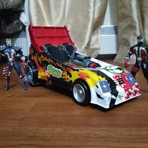 Todd Mcfarlane Spawn Movil Vihicle Car Toy 1994 And Two Spawn Action Figure for Sale in Boston, MA