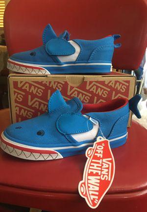 Vans slip on V shark sneakers for kids for Sale in Lynwood, CA