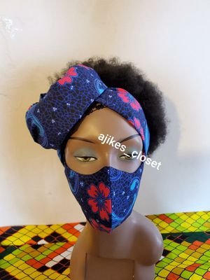 Beautiful African print face mask with matching scarf for Sale in Philadelphia, PA