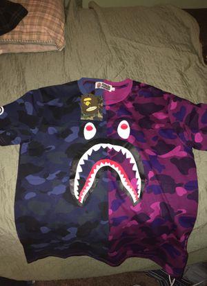 Bape purple/blue shark tee for Sale in Cottonwood Heights, UT