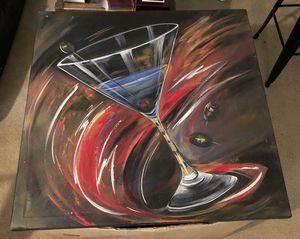 Decorative martini painting on canvas for Sale in Ashburn, VA