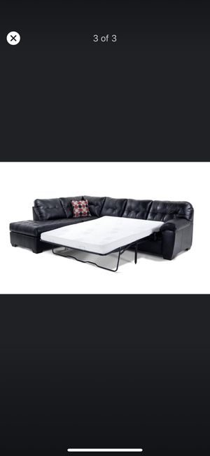 Selling black sleeper couch for Sale in Ashland, MA