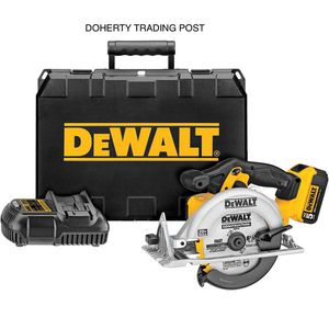 DEWALT 20-Volt MAX Lithium-Ion Cordless Circular Saw Kit with Battery 5Ah, Charger and Case for Sale in Northampton, PA