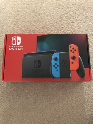 Nintendo Switch Brand New V2 Neon Blue and Red for Sale in Saint Charles, MO