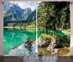 Curtains Mountains 108 x 84 Alps Lake Scenic Living Bed Room Decor Patio Windows Backdrop for Sale in Orlando, FL