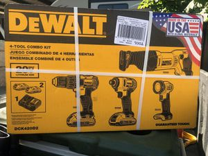 New * DeWalt four tool combo kit (2 batteries & fast charger included) for Sale in Midvale, UT