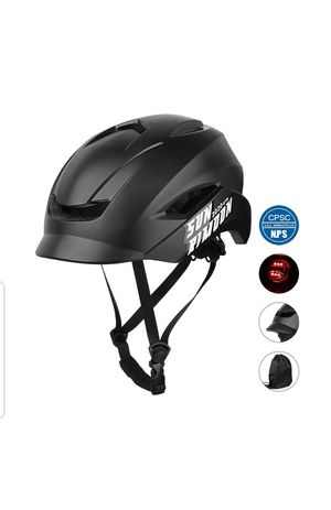Adult Bike Helmet with Adjustable Regulator Tail Light for Men/Women, Unibody Design Lightweight Bicycle Cycling Helmet for Urban Commuter, 19.69-23 for Sale in Rancho Cucamonga, CA