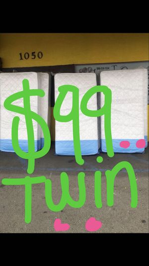 Twin mattress $99 for Sale in San Bernardino, CA