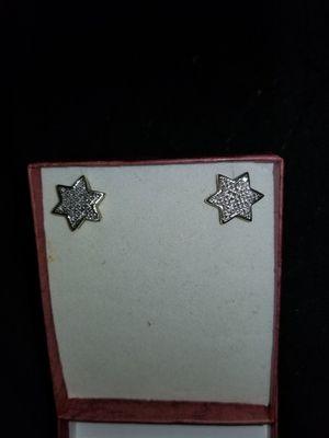 Sterling Silver Diamond Star Earrings for Sale in Atlanta, GA