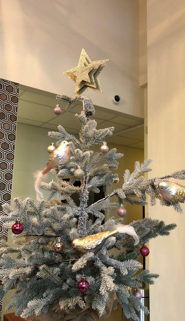 Merry white faux Christmas tree 3 ft