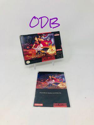 Aladdin - Box & Manual - Super Nintendo SNES for Sale in Weatherby Lake, MO